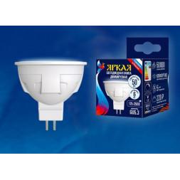 Лампа светодиодная диммируемая (UL-00003989) GU5.3 6W 4000K матовая LED-JCDR 6W/NW/GU5.3/FR/DIM PLP0