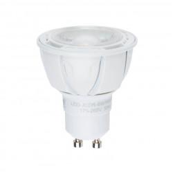 Лампа светодиодная диммируемая (UL-00003990) GU10 6W 3000K матовая LED-JCDR 6W/WW/GU10/FR/DIM PLP01W