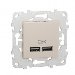 Розетка компьютерная USBx2 Schneider Electric Unica New NU541844