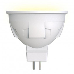 Лампа светодиодная диммируемая (UL-00003991) GU5.3 6W 3000K матовая LED-JCDR 6W/WW/GU5.3/FR/DIM PLP0