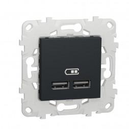 Розетка компьютерная USBx2 Schneider Electric Unica New NU541854