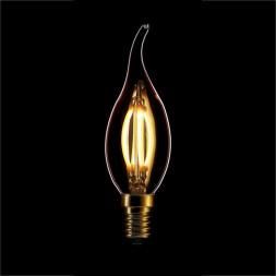 Лампа светодиодная филаментная диммируемая E14 4W 2200K золотая 057-103