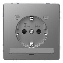 Розетка Schneider Electric Merten D-Life 16A с/з и LED модулем MTN2304-6036