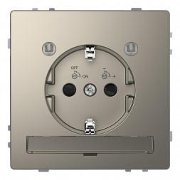 Розетка Schneider Electric Merten D-Life 16A с/з и LED модулем MTN2304-6050
