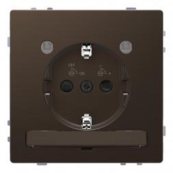 Розетка Schneider Electric Merten D-Life 16A с/з и LED модулем MTN2304-6052