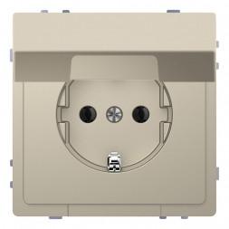 Розетка Schneider Electric Merten D-Life 16A с/з и крышкой MTN2310-6033