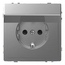 Розетка Schneider Electric Merten D-Life 16A с/з и крышкой MTN2310-6036