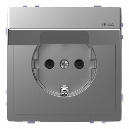 Розетка Schneider Electric Merten D-Life 16A с/з и крышкой MTN2314-6036