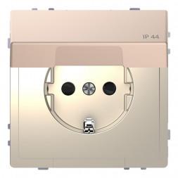 Розетка Schneider Electric Merten D-Life 16A с/з и крышкой MTN2314-6051