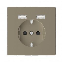 Розетка компьютерная USBx2 Schneider Electric Merten D-Life MTN2366-6033