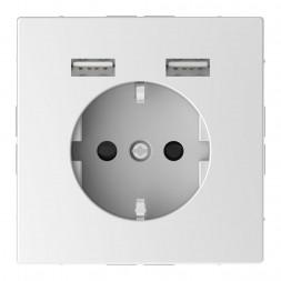 Розетка компьютерная USBx2 Schneider Electric Merten D-Life MTN2366-6035