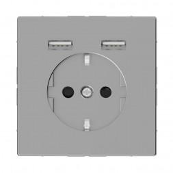 Розетка компьютерная USBx2 Schneider Electric Merten D-Life MTN2366-6036
