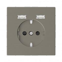 Розетка компьютерная USBx2 Schneider Electric Merten D-Life MTN2366-6050