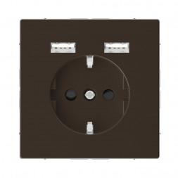 Розетка компьютерная USBx2 Schneider Electric Merten D-Life MTN2366-6052