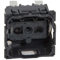 Розетка 2К Legrand Celiane 16A 230V б/з со шторками безвинтовой зажим 067110