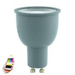Лампа светодиодная диммируемая GU10 5W 2700-6500K серая 11671