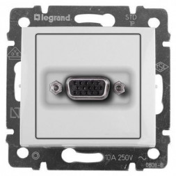 Розетка HD15 Legrand Valena белая 770083