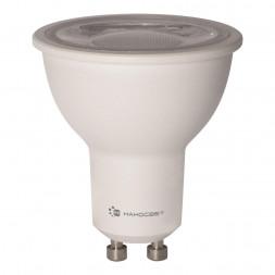 Лампа светодиодная диммируемая GU10 8W 4000K прозрачная LH-MR16-D-8/GU10/840 L243