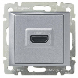 Розетка HDMI Legrand Valena алюминий 770285