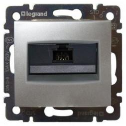 Розетка компьютерная RJ45 Legrand Valena 5e кат UTP с захватами алюминий 770230