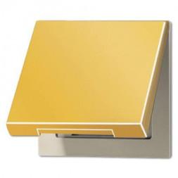 Крышка для розеток и изделий с платой 50х50мм Jung LS 990 блеск золота GO2990KL