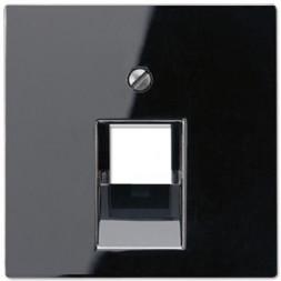 Накладка 1-ой наклонной телефонной/компьютерной розетки Jung A 500 черная A569-1PLUASW