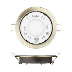 Встраиваемый светильник (UL-00005056) Uniel GX53/H2 Antique Brass 10 Prom