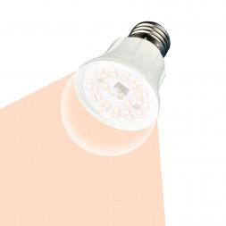 Лампа светодиодная для растений (UL-00001820) E27 10W прозрачная LED-A60-10W/SPFR/E27/CL PLP01WH