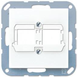 Накладка для двойных модульных разъемов Reichle+De-Massari Jung A 500 белая A569-21ACSWW