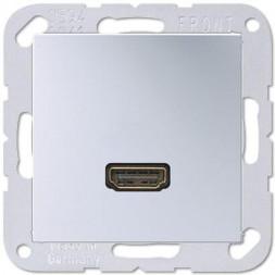 Розетка HDMI одинарная Jung A 500 алюминий MAA1112AL