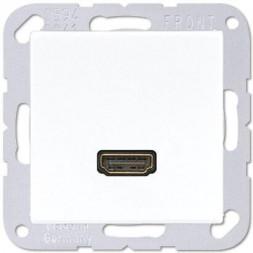 Розетка HDMI одинарная Jung A 500 белая MAA1112WW
