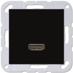 Розетка HDMI одинарная Jung A 500 черная MAA1112SW