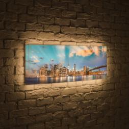 Лайтбокс панорамный Огни NYC 45x135-p016