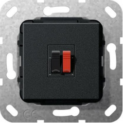Аудиорозетка Gira System 55 черный матовый 569210