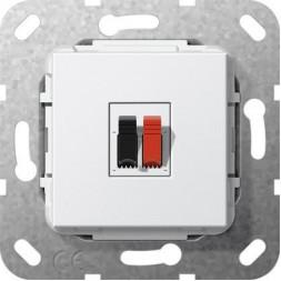 Аудиорозетка Gira System 55 чисто-белый глянцевый 569203