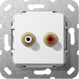 Аудиорозетка Тюльпан Gira System 55 чисто-белый глянцевый 563203