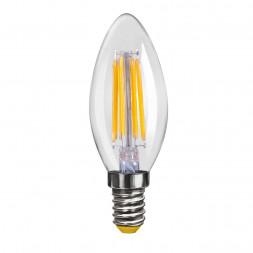 Лампа светодиодная филаментная E14 4W 2800К прозрачная VG10-C1E14warm4W-F 6997