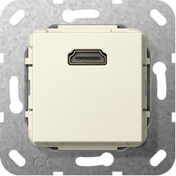 Розетка HDMI Gira System 55 кремовый глянцевый 566901