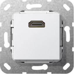 Розетка HDMI Gira System 55 чисто-белый глянцевый 566903