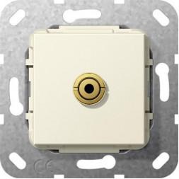 Розетка Minijack Gira System 55 кремовый глянцевый 564801