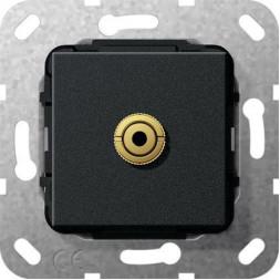 Розетка Minijack Gira System 55 черный матовый 564810