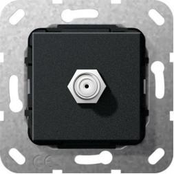 Розетка SAT-F Gira System 55 черный матовый565010