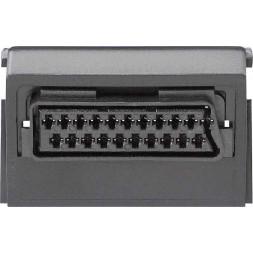 Розетка Scart/Euro-AV Gira System 55 черный 009300
