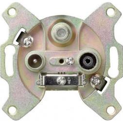 Розетка TV-FM-SAT Gira System 55 оконечная алюминий 093700