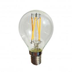 Лампа светодиодная филаментная E14 4W прозрачная 056-885