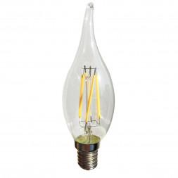 Лампа светодиодная E14 4W прозрачная 056-908