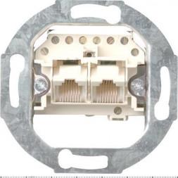Розетка компьютерная двойная ISDN Gira System 55 3 кат 018700
