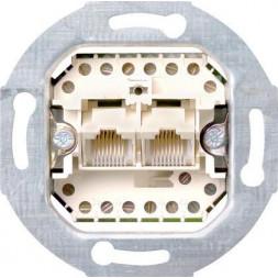 Розетка компьютерная двойная ISDN Gira System 55 3 кат 019000