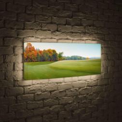 Лайтбокс панорамный Осенняя опушка 45x135-p024