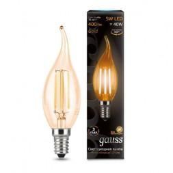 Лампа светодиодная филаментная E14 5W 2700K золотая 104801005